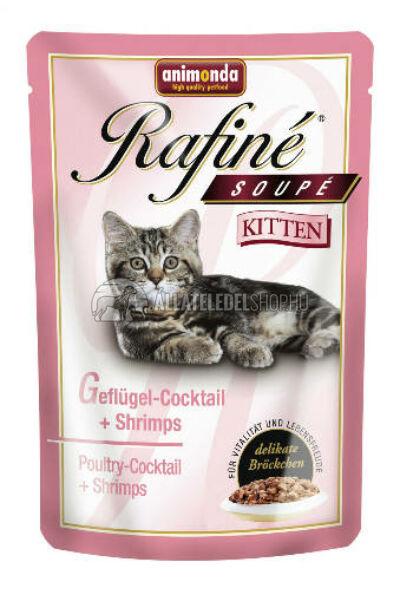 Animonda macskaeledel - Rafine Soupe Kitten Szárnyas & Rák alutasakos macskáknak 100g