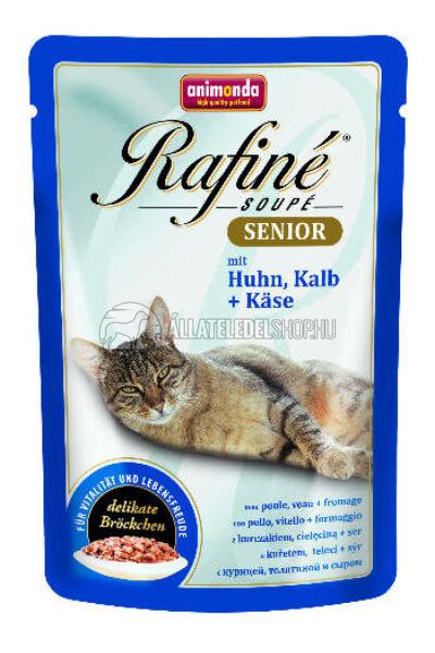 Animonda macskaeledel - Rafine Soupe Senior Baromfi & Borjú & Sajt alutasakos macskáknak 100g