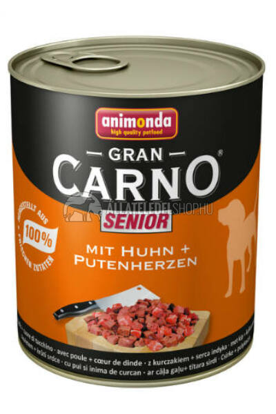 Animonda - Grancarno Senior Csirke & Pulya Szív kutyakonzerv 800g