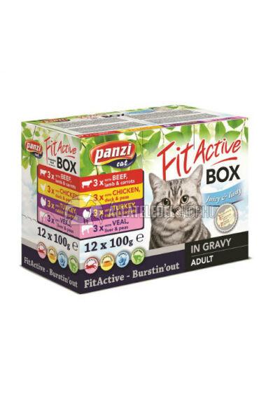 FitActive macskaeledel - Cat FIT-a-BOX Pástétomok macskáknak 12x100g