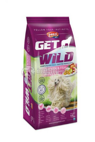 GetWild - ADULT Csirke & Hal kutyatáp 15kg