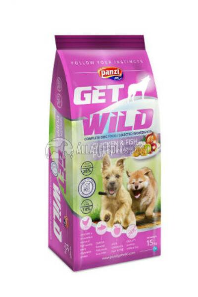 GetWild - PUPPY Csirke & Hal kutyatáp 15kg