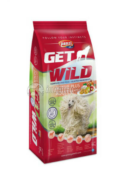 GetWild - ADULT ACTIVE PLUS surp. kutyatáp 15kg