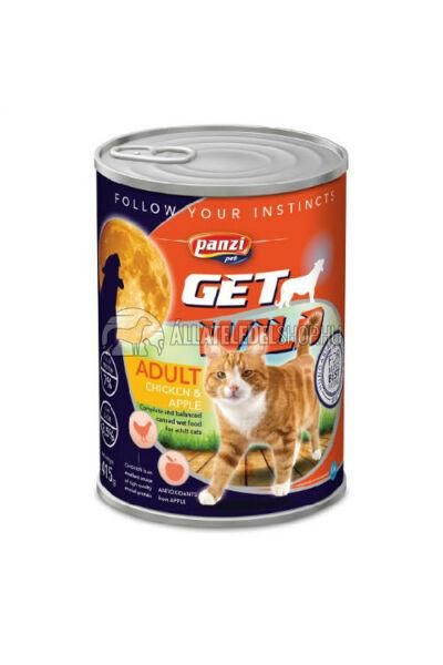 GetWild macskaeledel - CAT Adult Csirke & Alma macskakonzerv 415g
