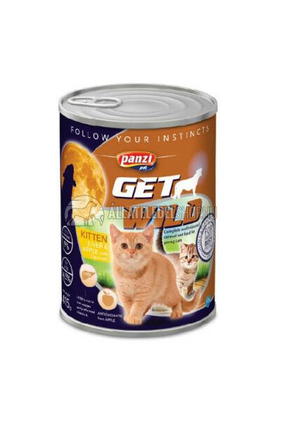 GetWild macskaeledel - CAT Junior Máj & Alma macskakonzerv 415g