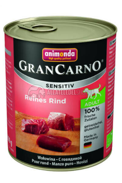 Animonda - Grancarno Sensitiv Marha kutyakonzerv 800g