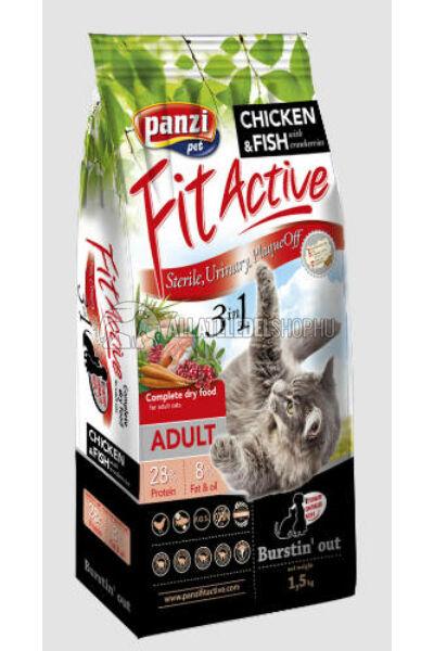 FitActive macskaeledel - Cat 3in1 macskatáp 1,5kg