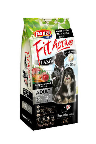 FitActive - Dog Adult BlackDogs Bárány & Hal kutyatáp 1,5kg