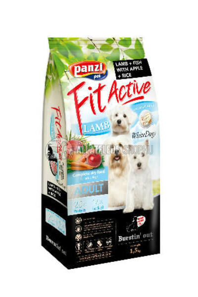 FitActive - Dog Adult WhiteDogs Bárány & Hal kutyatáp 1,5kg