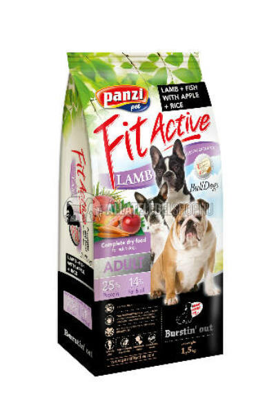 FitActive - Dog Adult BullDogs Bárány & Hal kutyatáp 1,5kg