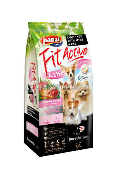 FitActive - Dog Adult ToyDogs Bárány & Hal kutyatáp 1,5kg
