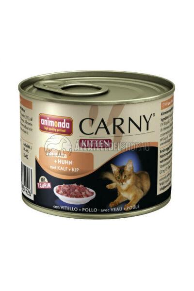 Animonda macskaeledel - Carny Kitten Borjú & Csirke macskakonzerv 200g