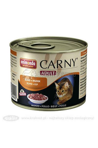 Animonda macskaeledel - Carny Adult Marha & Csirke macskakonzerv 200g