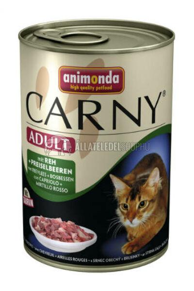 Animonda macskaeledel - Carny Adult Szarvas & Váfonya macskakonzerv 400g