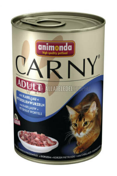Animonda macskaeledel - Carny Adult Tőkehal & Petrezselyem macskakonzerv 400g