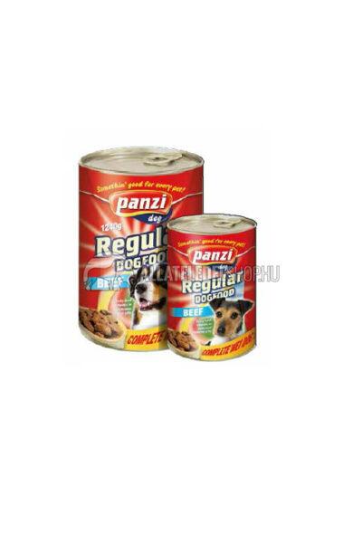 Panzi - Dog Regular Marhás kutyakonzerv 1240g