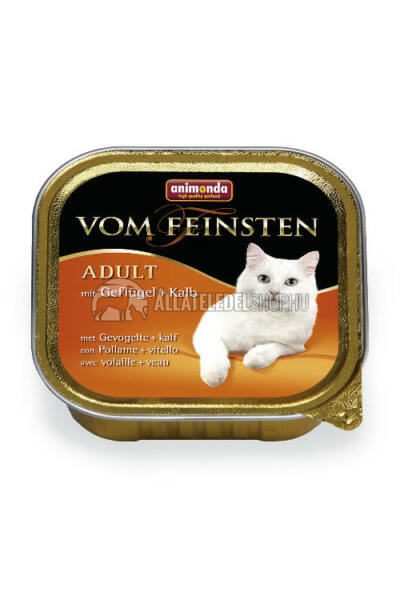 Animonda macskaeledel - Vom Feinsten Adult Baromfi & Borjú alutasakos macskáknak 100g
