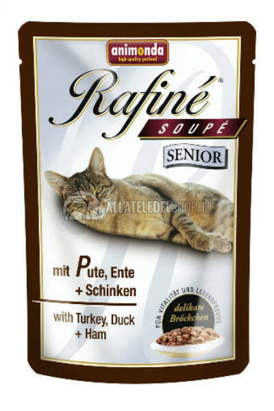 Animonda macskaeledel - Soupe Senior Pulyka alutasakos macskáknak 100g