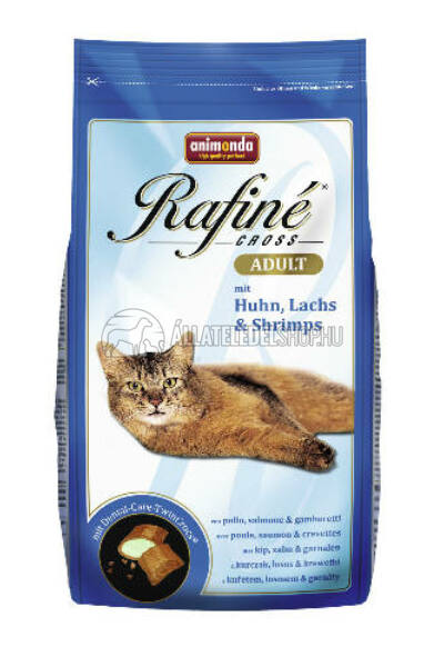 Animonda macskaeledel -  Rafine Cross Adult Csirke - Lazac - Rák  macskatáp 400g