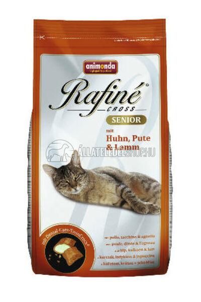 Animonda macskaeledel -  Rafine Cross Senior Csirke - Pulyka - Bárány  macskatáp 400g