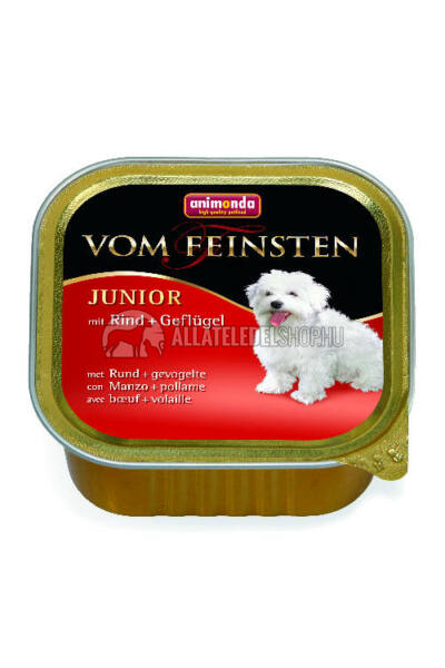 Animonda - Vom Feinsten Junior Baromfi & Marha alutasakos kutyáknak 150g