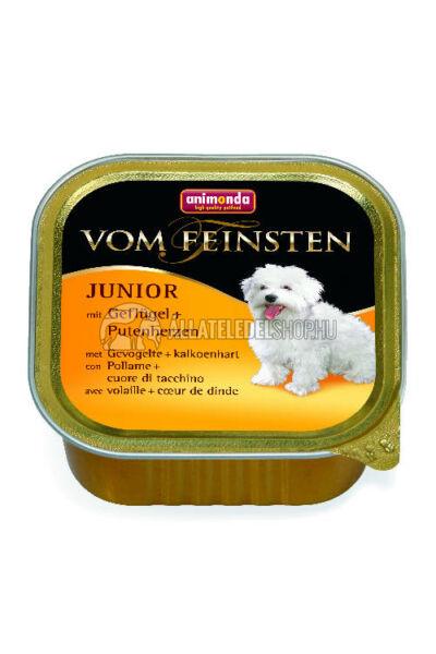 Animonda - Vom Feinsten Junior Baromfi & Pulykaszív alutasakos kutyáknak 150g