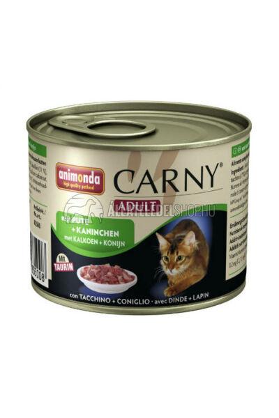 Animonda macskaeledel - Carny Adult Pulyka & Nyúl macskakonzerv 200g
