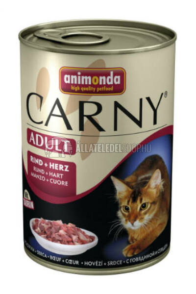 Animonda - Carny Adult Marha & Szív macskakonzerv 400g