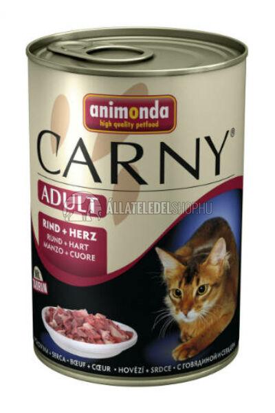 Animonda macskaeledel - Carny Adult Marha & Szív macskakonzerv 400g