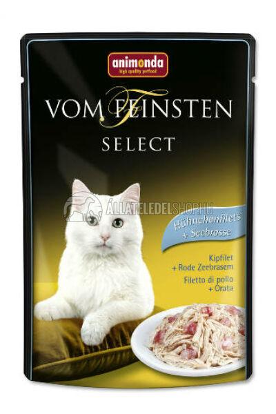 Animonda macskaeledel - Vom Feinsten Select Csirke & Keszeg alutasakos macskáknak 85g