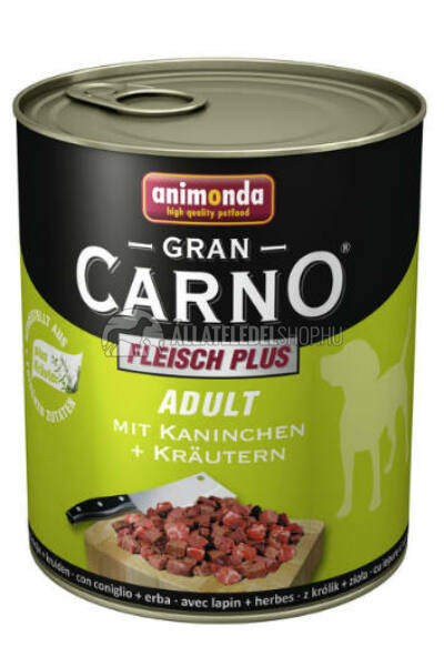 Animonda - Grancarno Adult Nyúl & Gyógynövény kutyakonzerv 800g
